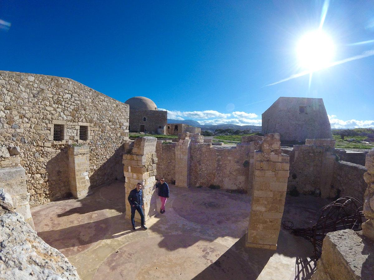 Dans les ruines de la fortessa de Réthymnon