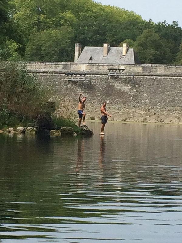 Baignade au château de Chenonceau