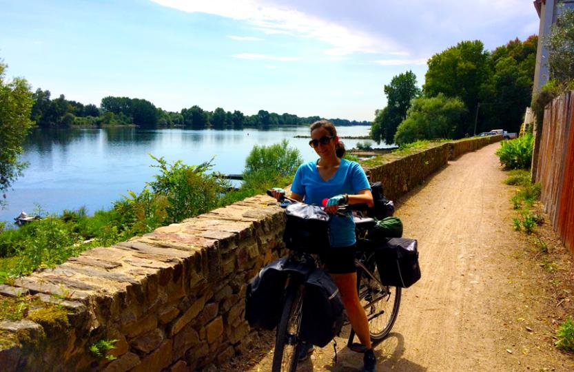 1er journée à vélo au bord de la Loire Yasmina