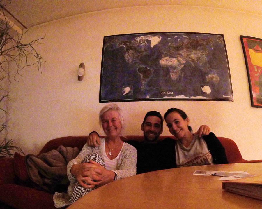 chez Judith, notre hôte allemande à Ulm