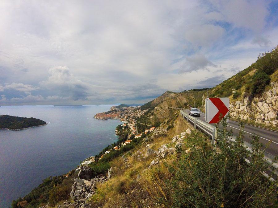 Dubrovnik, vue de la route