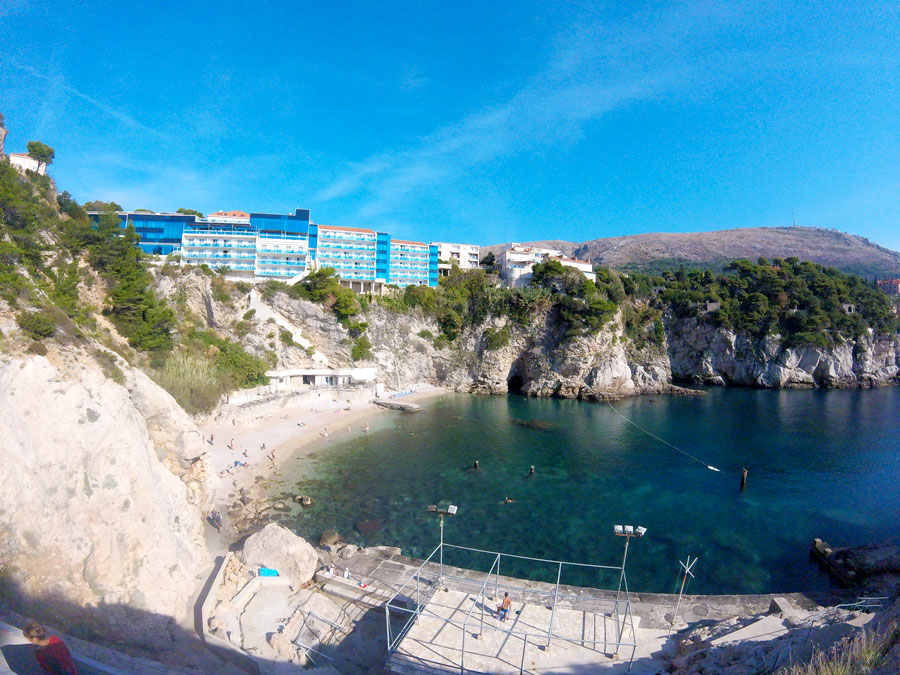 Plage à Dubrovnik