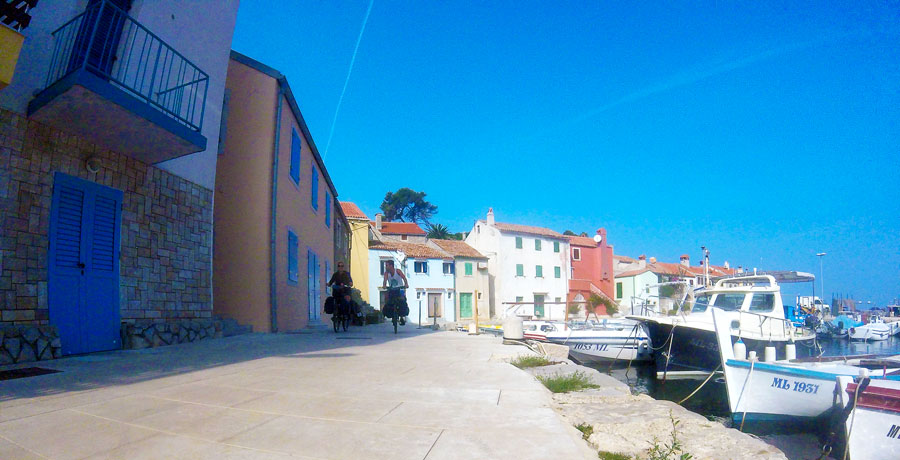 Small port on the island of Mali Losinj