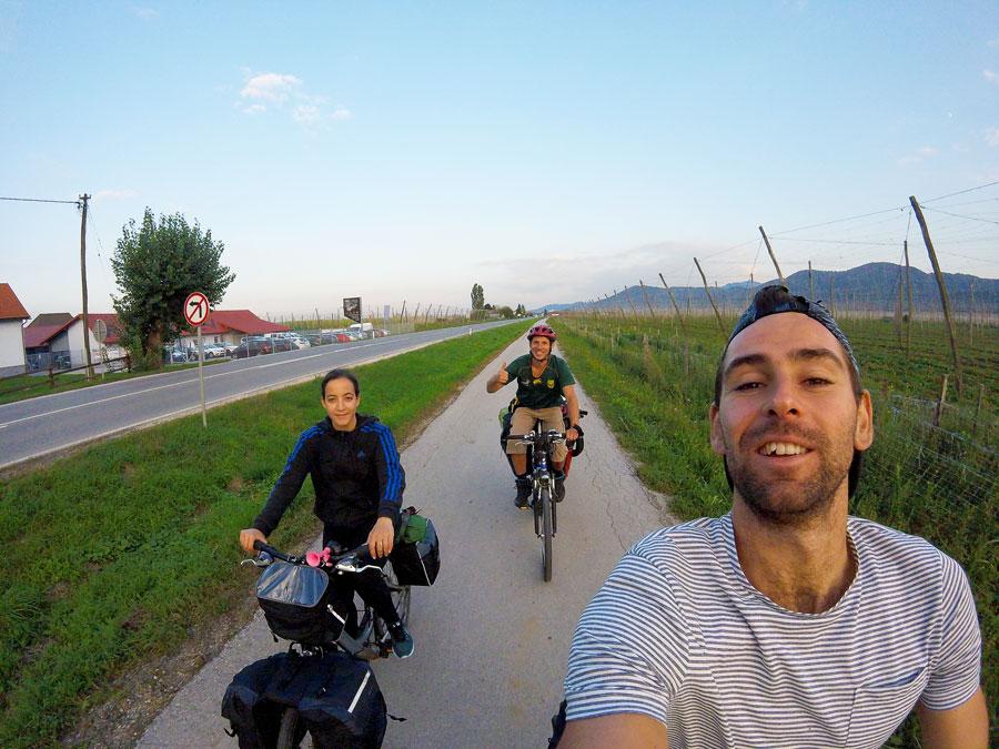A vélo en Slovénie vers Ljubljana