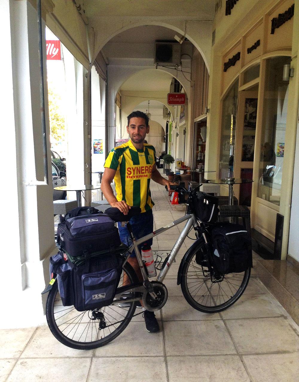 A vélo à Pylos en Grèce