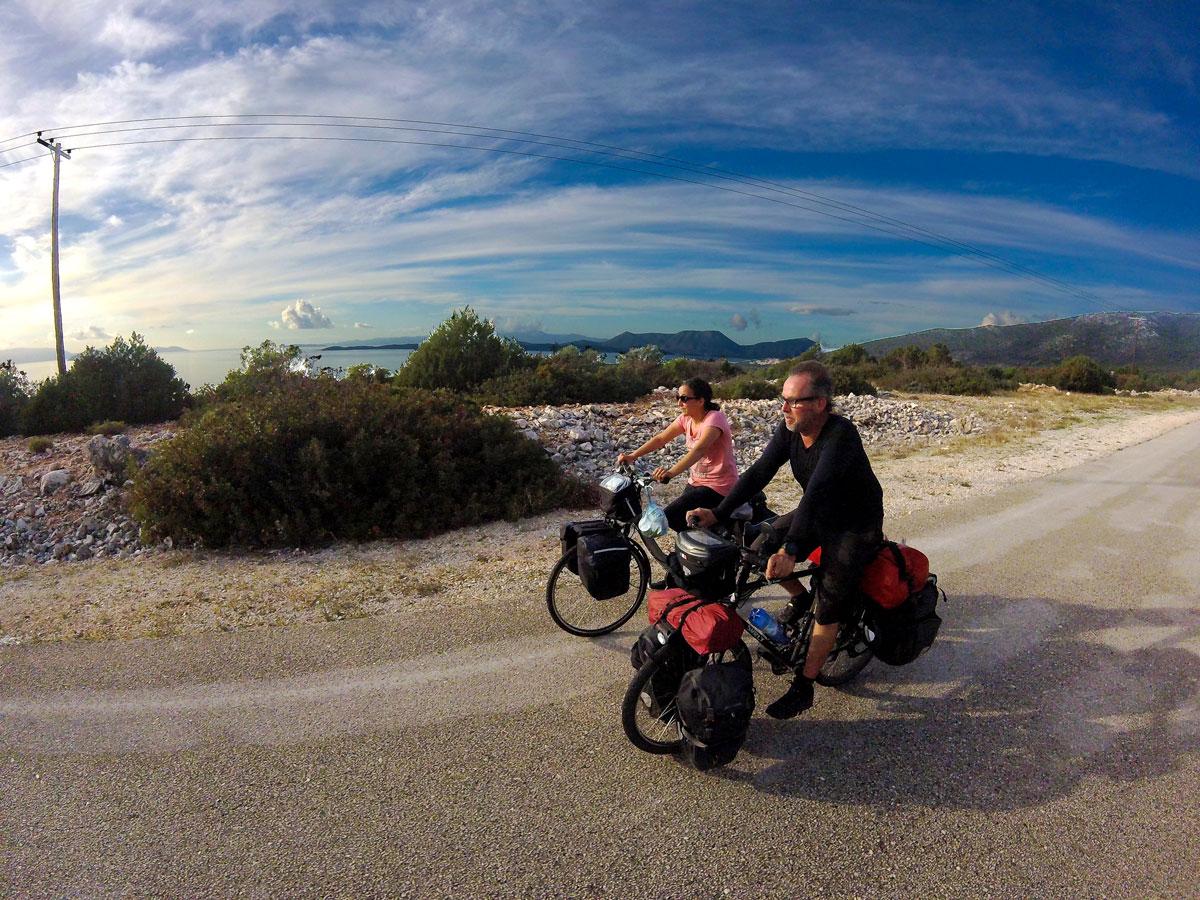 la Grèce à vélo