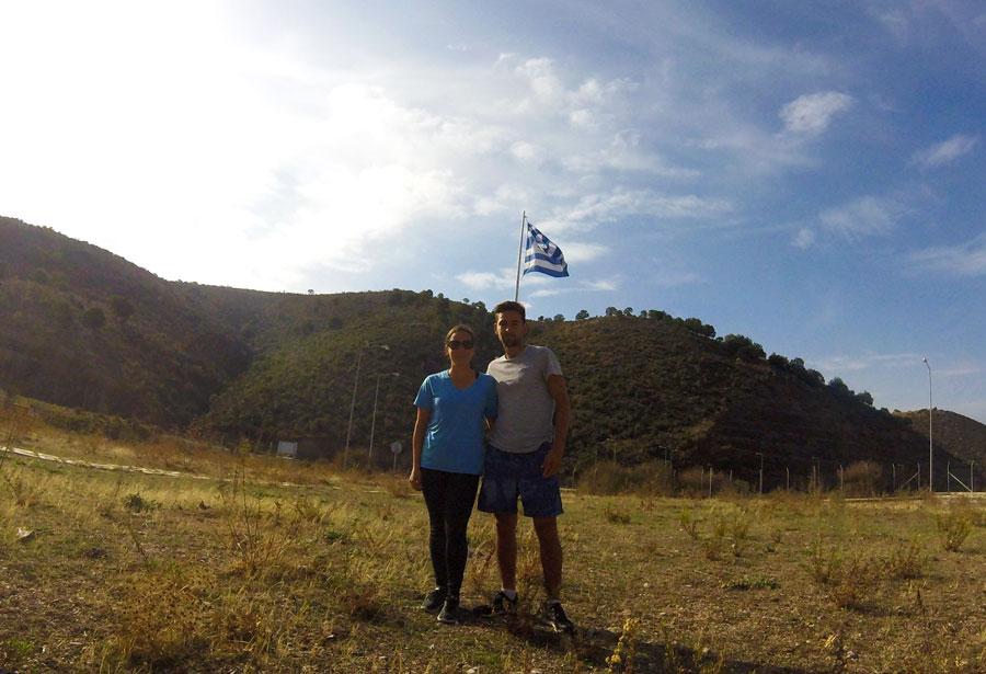 A la frontière en Grèce