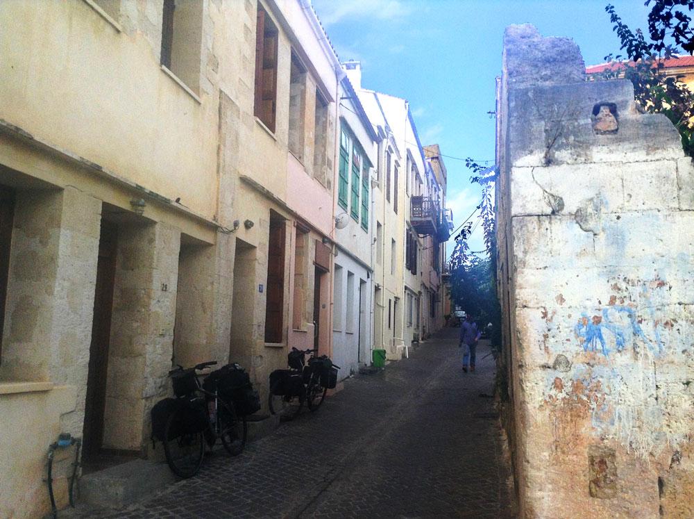 Notre maison au 29 de la rue Kantanoleon à Chania (La Canée), Crète