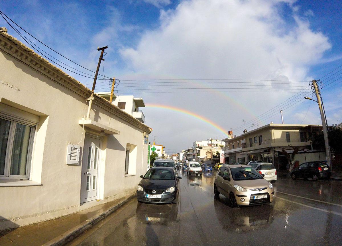 Arc en ciel à La Canée, Chania, Crète