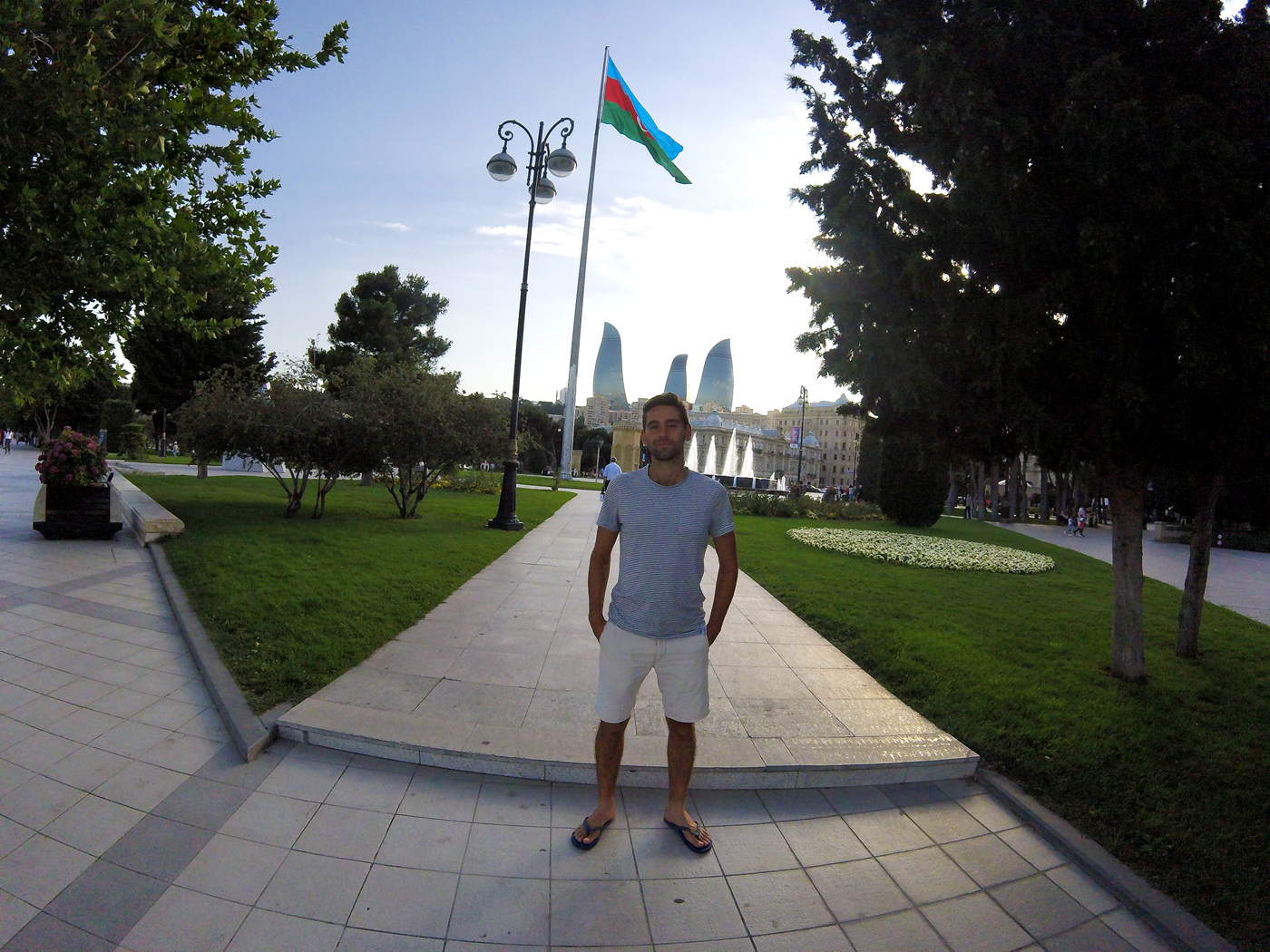 Cycling, Azerbaijan Cycling, crossing the Caucasus region by bicycle, Arthur in Baku. Cycling travel, biketouring, cycling Caucasus, cycling Azerbaijan, Arthur in Baku.