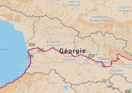 cycling travel, biketouring, cycling Caucasus, cycling Georgia, map