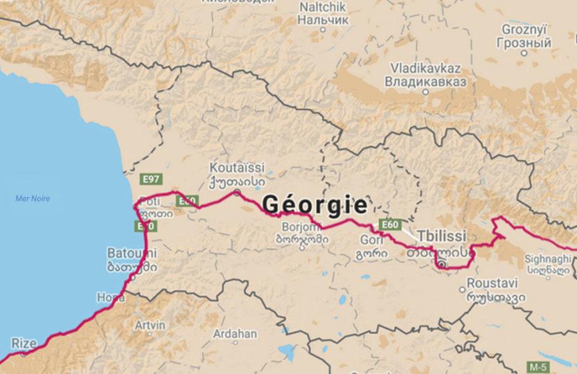 cycling travel, biketouring, cycling Caucasus, cycling Georgia, map